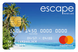 prepaid travel card images The escape travel money prepaid mastercard card png