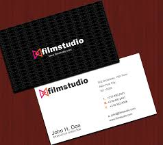 Studio Visiting Card Design Psd Film Studio Business Cards Free Psd Business Card Templates