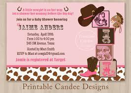 cowgirl baby shower invitations reduxsquad com