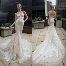 trumpet wedding dresses 2016 chagne lace wedding dresses sweetheart berta 2015