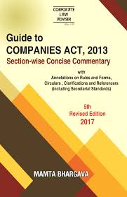 corporate law adviser guide to companies act 2013 section wise