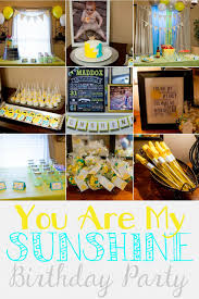 You Are My Sunshine Decorations 1st Birthday Party For Maddox U2013 You Are My Sunshine Theme
