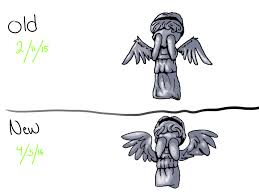chibi weeping angel diff no by blu3 kitty on deviantart
