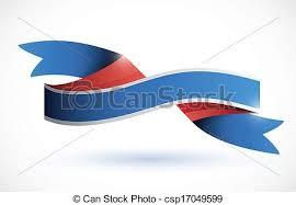 white and blue ribbon eps vectors of white blue ribbon illustration a white