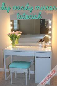 diy vanity mirror with lights under 100 simplysandra