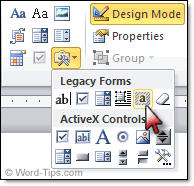 design form in word removing word form field shading
