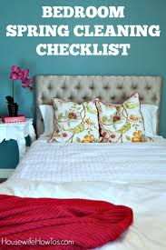 bedroom spring cleaning checklist free printable