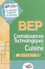 bep cuisine candidat libre bep connaissances techno cuisine vichard tondusson 9782857083993