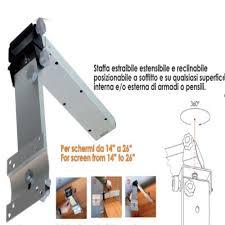 porta tv soffitto staffa porta tv per cer o imbarcazioni w4 in alluminio a
