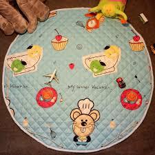 teppich kinderzimmer rund baby playmat antiskip teppich kinderzimmer matte 110 110 cm rund