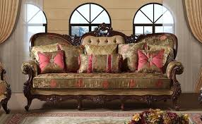 floral sofa victorian sofa with beige pink green floral print and wood frame
