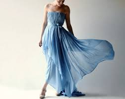 Blue Wedding Dress Handmade Clothes And Wedding Dresses By Larimeloom On Etsy