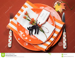 halloween plates halloween orange polka dot and stripes dinner table setting