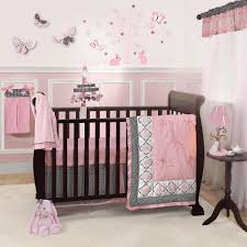 Geometric Crib Bedding by Nursery Baby Crib Bedding Sets For Girls With Pink And Black Small