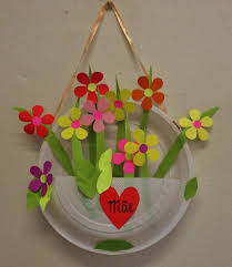 paper plate flower basket for spring arte y manualidades