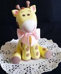 giraffe cake topper baby giraffe cake topper giraffe baby shower blue giraffe cake