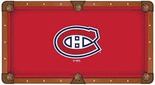 montreal canadians pool table cloth 4 x 8