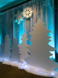 image result for winter wonderland corporate decorations in