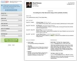 Creating An Online Resume by Applyfail Create A Humorous Resume In Seconds Shedsimove Com