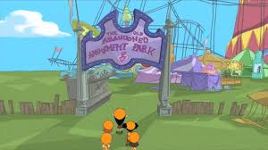 Phineas And Ferb Backyard Beach Game Old Abandoned Amusement Park Phineas And Ferb Wiki Fandom