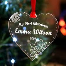 personalised wooden merry christmas tree decoration bauble gift
