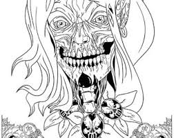 creepy coloring pages coloring poster etsy