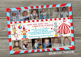 circus theme birthday invitations free printable invitation design