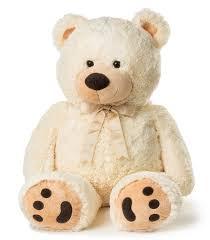 amazon com huge teddy bear cream toys u0026 games