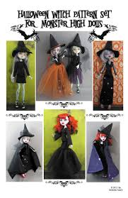 monster high doll clothing patterns gothic witch set cape dress