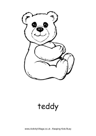 teddy bear colouring pages