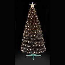 2 5ft fibre optic black tree with warm white led wyevale