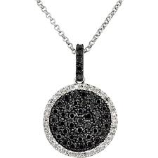 black diamonds necklace images Awesome black diamond mens necklace jpg