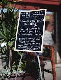 chalkboard wedding program wedding trends 2013 chalkboard wedding decor and details