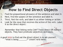 direct u0026 indirect objects