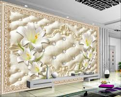 3d murals 3d murals wallpaper for living room 3d lily flower wallpapers for