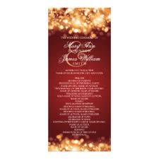 christmas wedding programs christmas wedding program cards invitations zazzle co uk