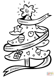 christmas tree coloring free printable coloring pages