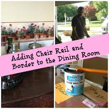 new house dining room makeover chair rail and border roots