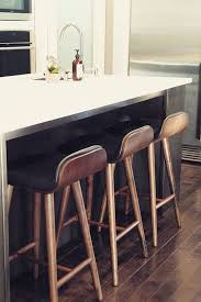 Bar Stool With Back Black Leather Bar Stool With Back Walnut Wood Article Sede