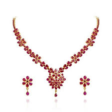 necklace ruby images Ruby necklaces jewellery sets at rs 168438 piece gemstone jpg