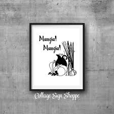mangia mangia eat eat italian wall art restaurant wall