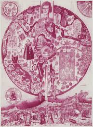 Map Of Ucla Grayson Perry Etching Acquired By Grunwald Center Hammer Museum
