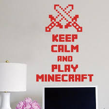 keep calm and play minecraft colors minecraft wall decal