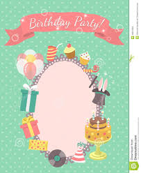 Invitation Card For A Birthday Party Birthday Party Invitation Card Stock Vector Image 46027804
