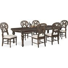 Dining Room Side Chairs Charleston Rectangular Dining Table And 6 Scroll Back Side Chairs