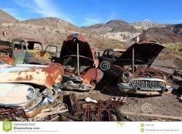 car yard junkyard old rusted cars in junk yard royalty free stock photo image