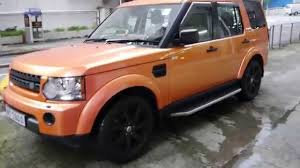 matte orange range rover chameleon land rover discovery 4 by wrap workz hong kong gloss