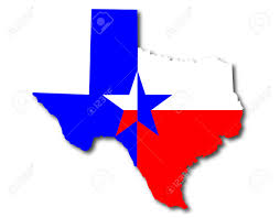 Texas Map Picture Outline Map Of Texas In Red White And Blue With The Lone Star