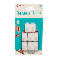 HANGables Micro Removable Adhesive Wall Hooks Set of 8