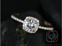 white topaz engagement ring rosados box barra 5mm 14kt gold white topaz and